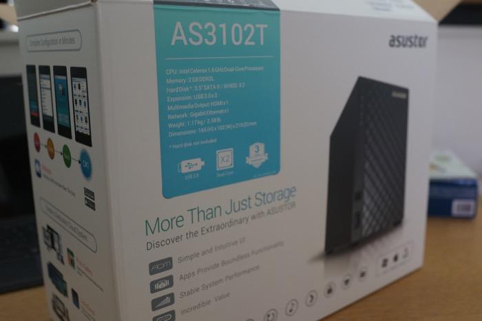 NAS Asustor AS3102T : boîte