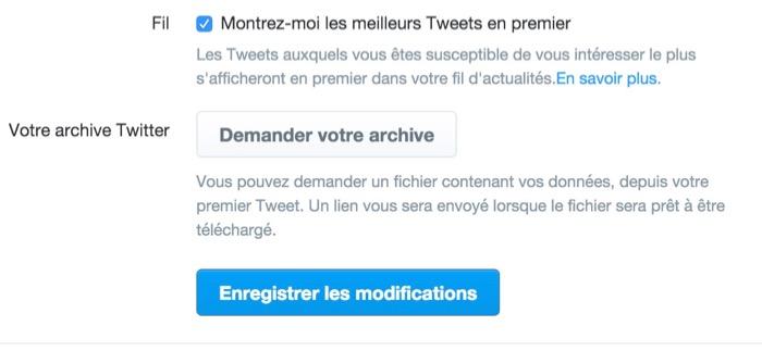 Comment activer la timeline algorithmique Twitter