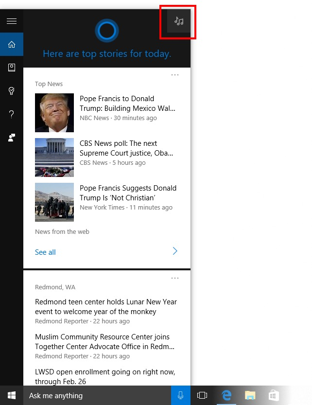 La build 14267 de Windows 10 apporte des améliorations à Cortana
