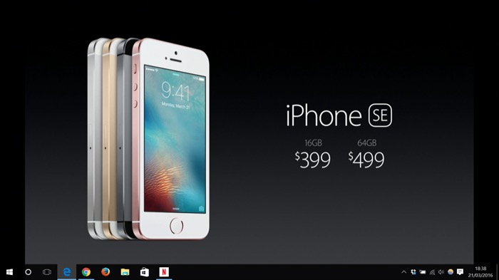 Apple iPhone SE : prix