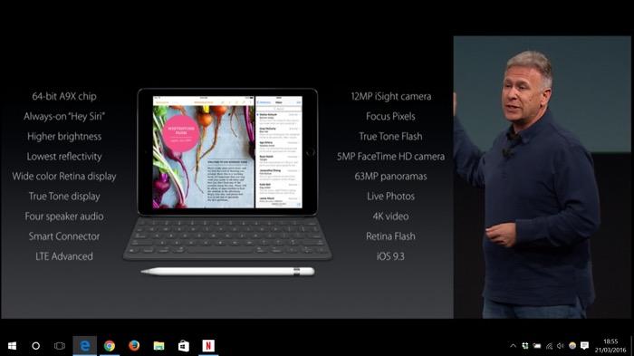 Apple iPad Pro : même composants que le grand iPad Pro