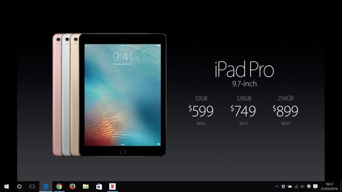 Apple iPad Pro : prix