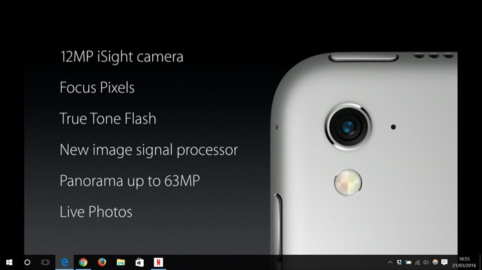 Apple iPad Pro : caméra