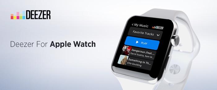 Deezer arrive sur l'Apple Watch