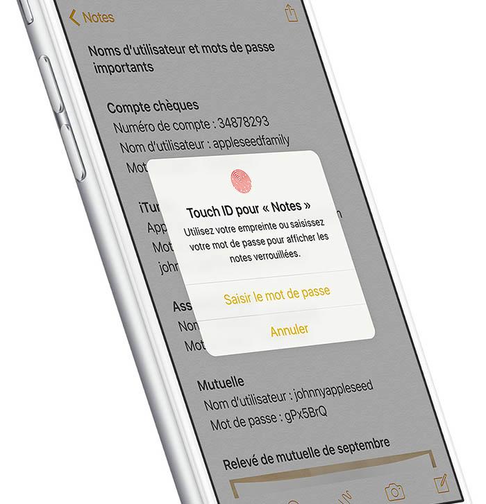 iOS 9.3 : Notes