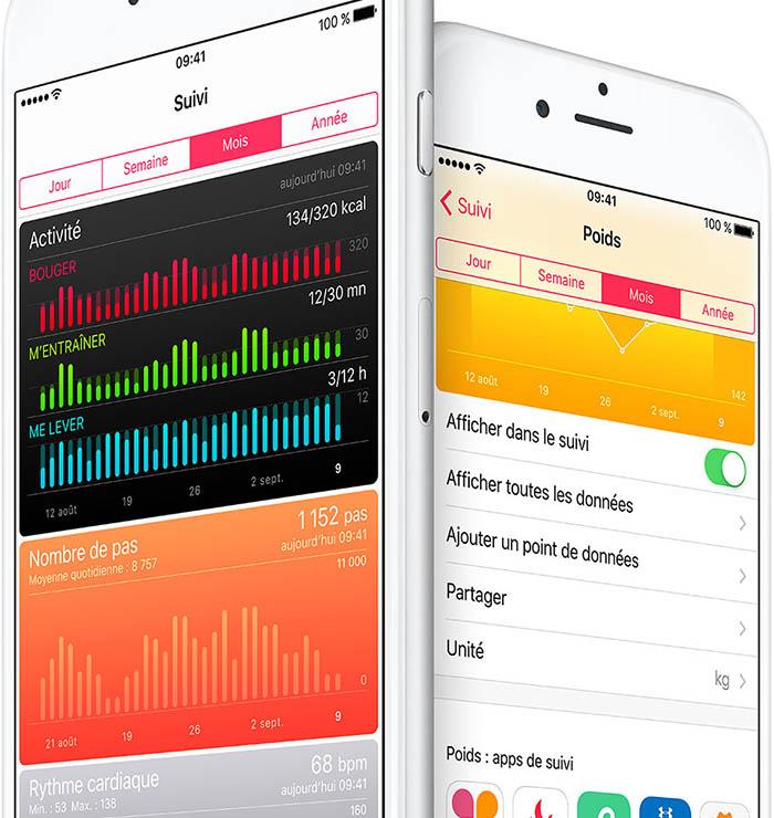 iOS 9.3 : Apple Santé