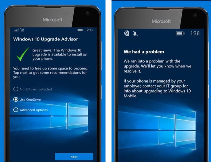 Windows 10 Mobile :