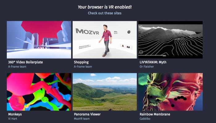Mozilla travaille pour standardiser le contenu de réalité virtuelle sur le Web
