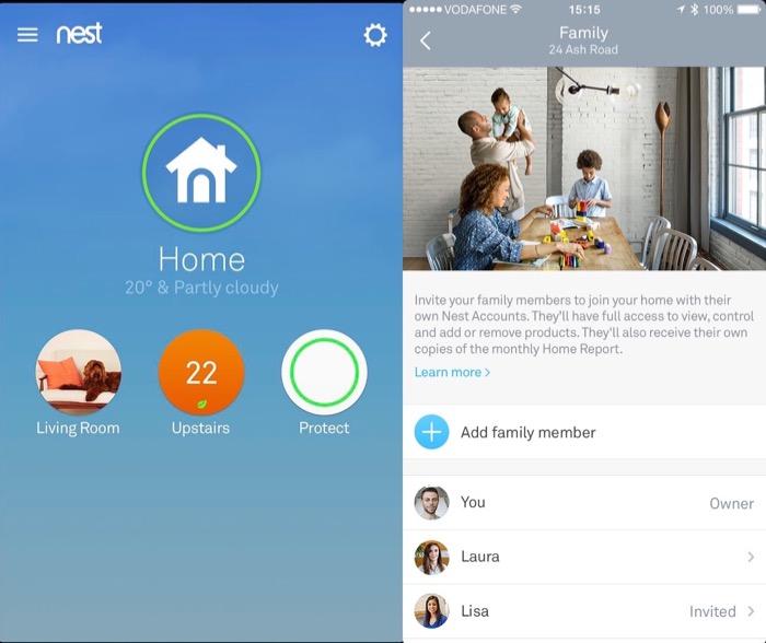 Nest : compte pour les familles