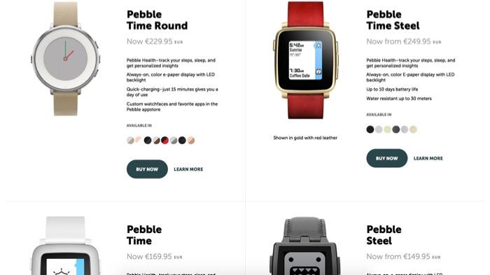 Pebble vient d'annoncer un réajustement des prix de ses smartwatches