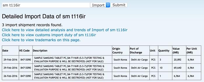 Samsung pourrait travailler sur une nouvelle version de la Galaxy Tab 3 Lite