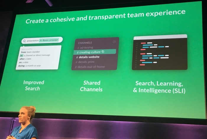 Slack cherche également à mieux intégrer ses différents outils