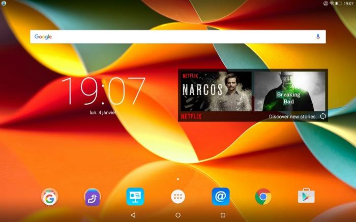 Lenovo YOGA Tab 3 Pro : interface utilisateur