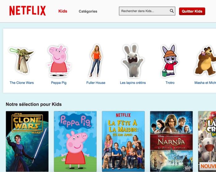 Netflix : profil enfant