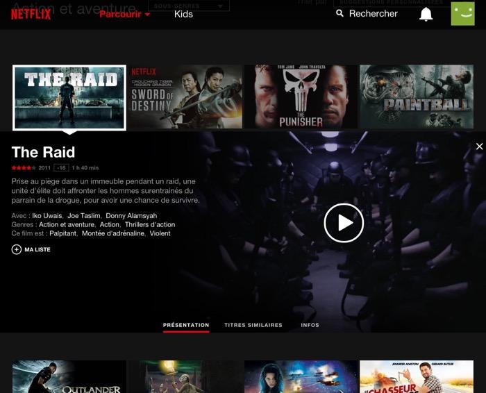 Netflix : catalogue des films