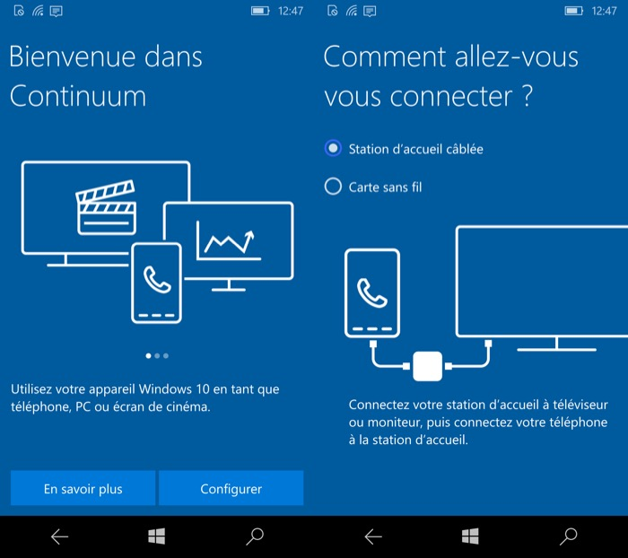 Windows 10 Mobile : Continuum