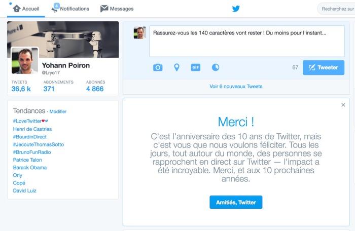 Twitter n'a pas l'intention d'abandonner sa limite de 140 caractères de sitôt