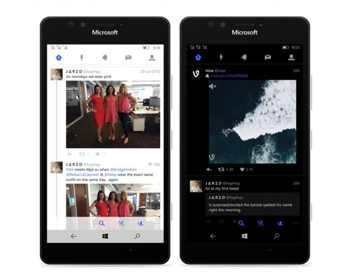 Twitter pour Windows 10 Mobile