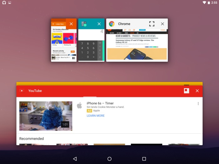 Mode Freeform sur Android N