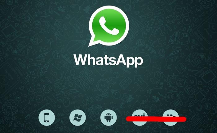 WhatsApp va laisser tomber BlackBerry, et d'autres plates-formes âgées fin 2016