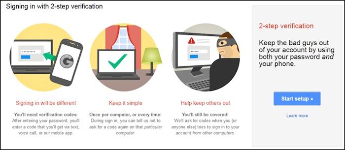 Authentification à deux facteurs sur Gmail