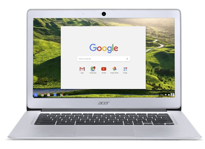 Acer Chromebook 14 : vue de face