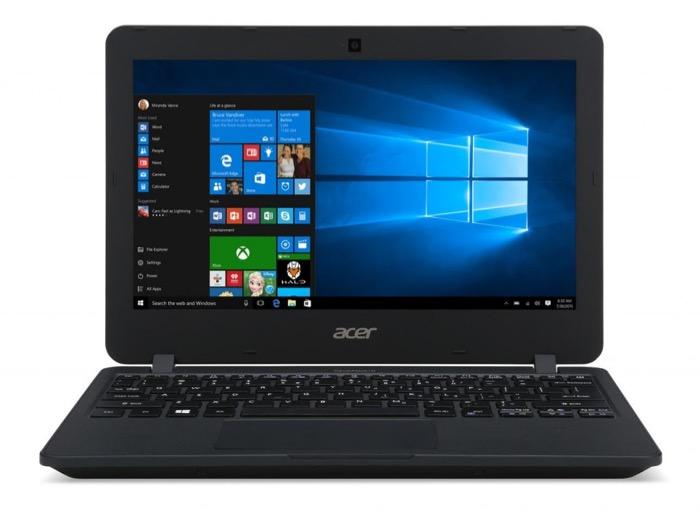 Acer TravelMate B117 : vue de face