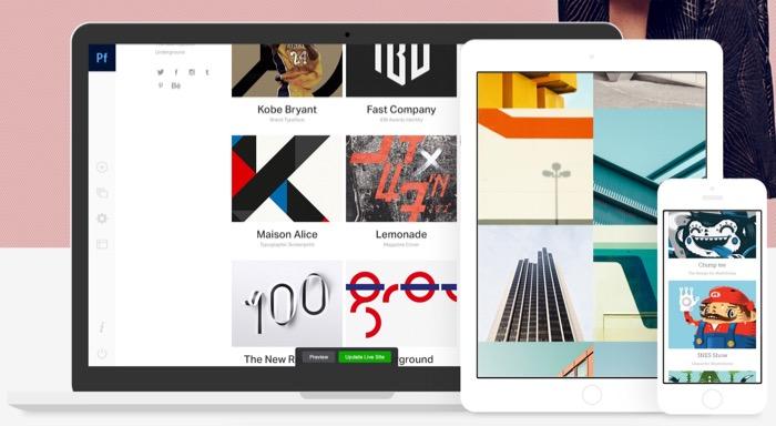 Adobe Portfolio permet de créer des sites Web rapidement, sans avoir à coder