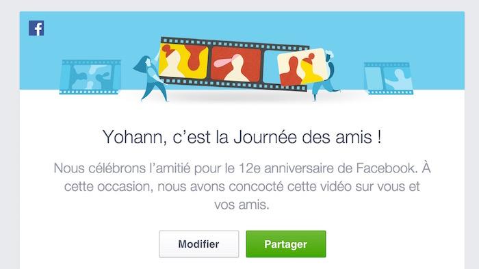 Comment afficher ou modifier la vidéo de la Journée des amis sur Facebook