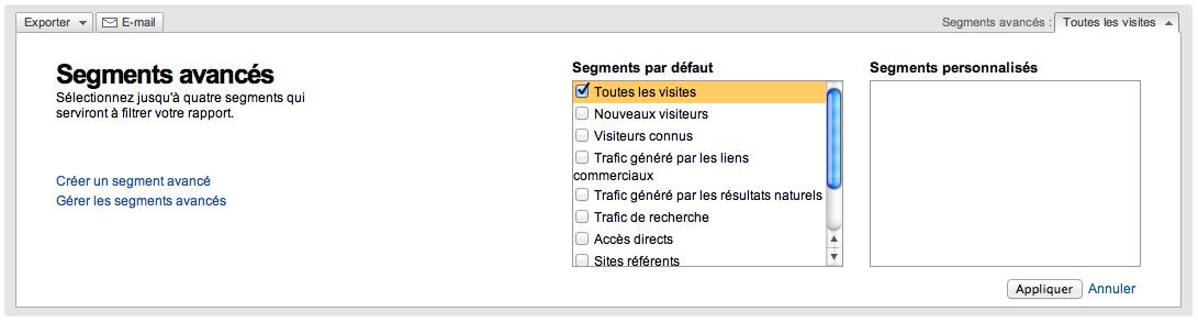 Annonce officielle de la nouvelle version de Google Analytics – Segmets avancées