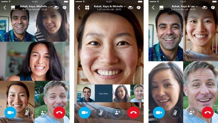 Les appels vidéo de groupe Skype arrivent sur iOS et Android