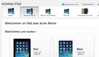 Apple réintroduit son iPad 4 afin de remplacer son iPad 2