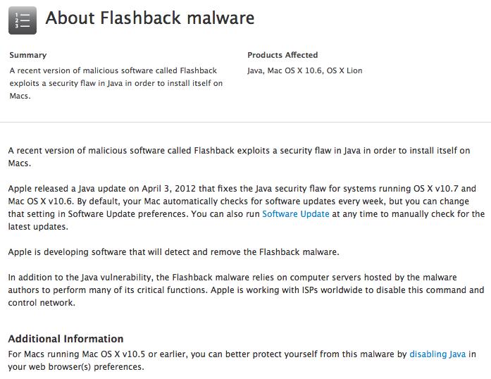 Apple va libérer un patch pour supprimer le méchant Flashback sur votre Mac