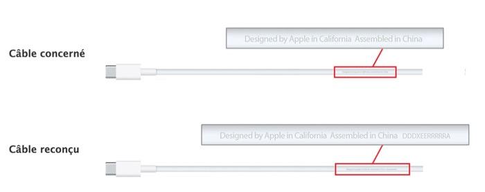 Apple veut remplacer votre câble de recharge USB-C de votre MacBook 2015