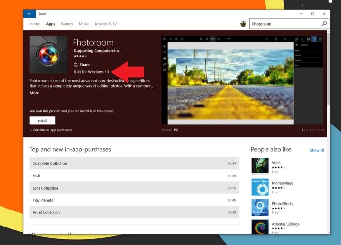 Le Windows Store vous dit maintenant quelles applications conçues pour Windows 10