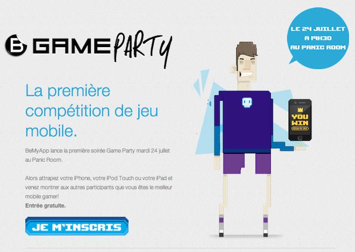 BeMyApp Game Party, la première compétition de jeu mobile