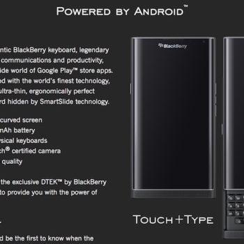 BlackBerry Priv : une page d