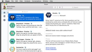Les nouveaux bots de Skype arrivent sur Mac
