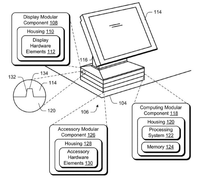 Un brevet de Microsoft décrit un PC de bureau modulaire