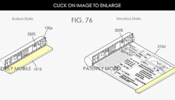 Samsung brevet : un tube déroulant