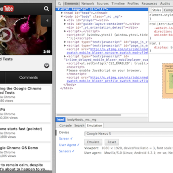 Chrome offre de nouveaux outils de développement dans sa solution mobile