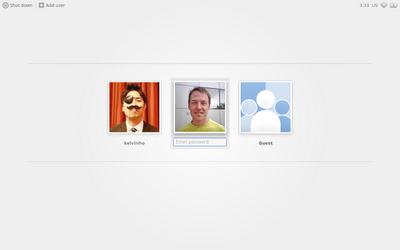 Chrome OS se met à jour pour Noël - Page de connexion utilisateur