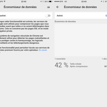 Chrome pour Android peut réduire la bande passante jusqu