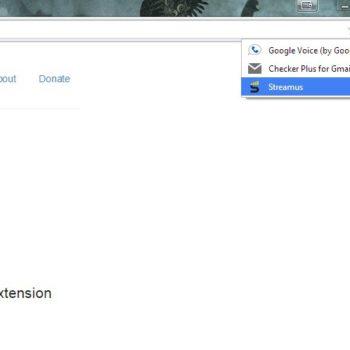 Streamus se trouve avec les autres extensions Chrome