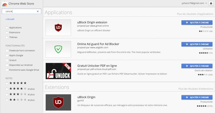 Le Chrome Web Store affiche les applications malveillantes en premier