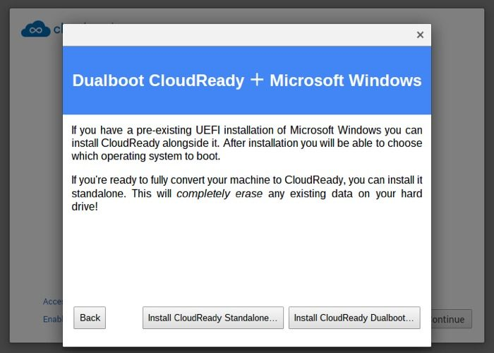 CloudReady offre un double-boot avec Windows et Chromium OS sur PC