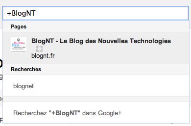 Comment aider Direct Connect à trouver votre Page Google+ - Recherche BlogNT sur Google+