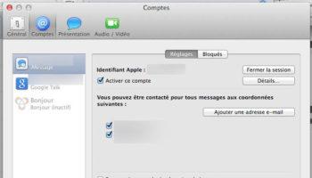 Configuration de votre compte iCloud pour Messages