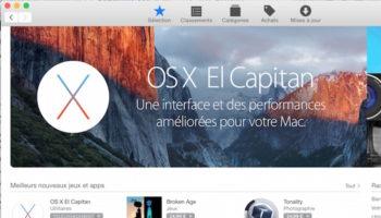OS X El Capitan depuis l