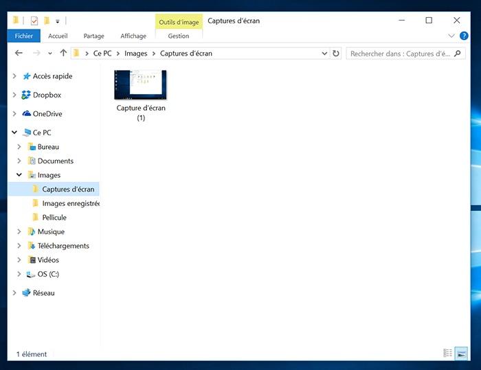 Comment prendre des captures d 39 cran screenshots dans for Screenshot ecran